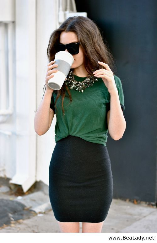 How you can tuck in a top with a skirt.