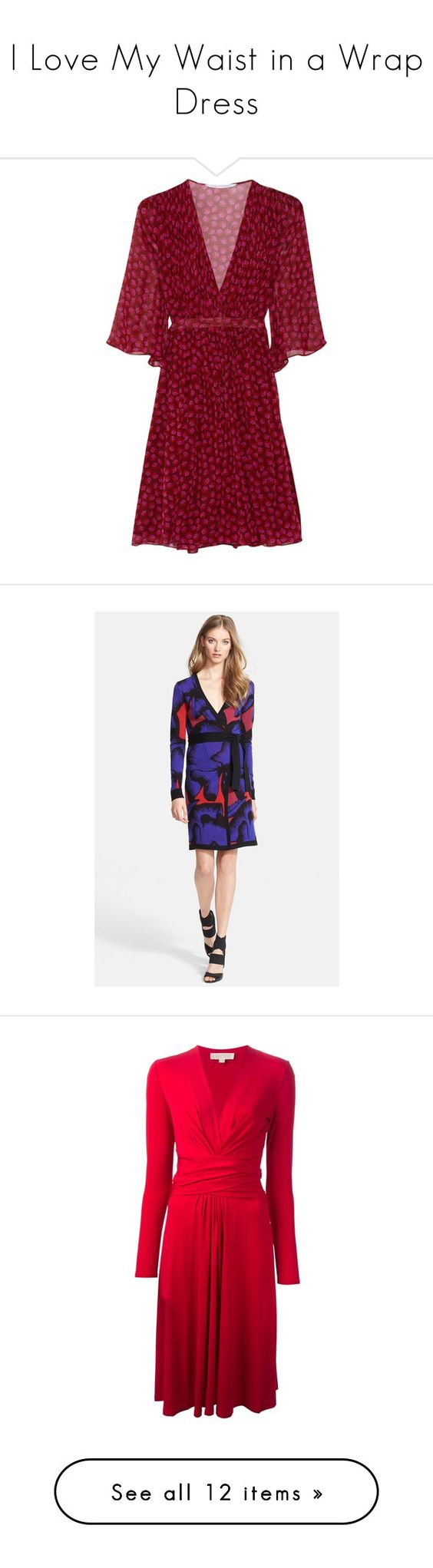 """I Love My Waist in a Wrap Dress"" by polyvore-editorial ❤ liked on Polyvore featuring wrapdress, lovemylook, Diane Von Furstenberg, Michael Kors, Westward Leaning, dresses, red dress, diane von furstenberg, red wrap dress and diane von furstenberg dresses"