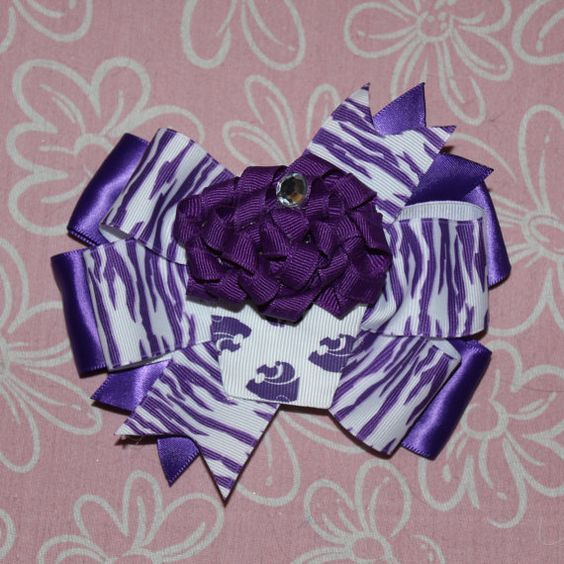 KState Cupcake Hair Bow by MegansHairCandy on Etsy, $8.00