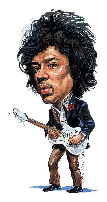 Jimi Hendrix by Art