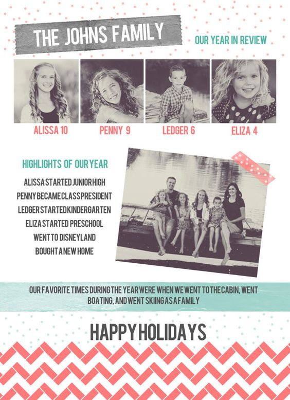Infographic Newsletter Letter Christmas Card | CHRISTMAS | cards ...