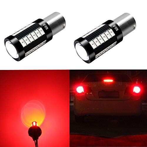 Alla Lighting 2800lm 7528 1157 Led Red Turn Signal Brake Stop Lights Bulbs Xtreme Super Bright Bay15d 1157 Led Bulb High Power 5730 33 Smd Led 1157 Bulb 7528 20 Led Bulb Bulb Led Light Bulb