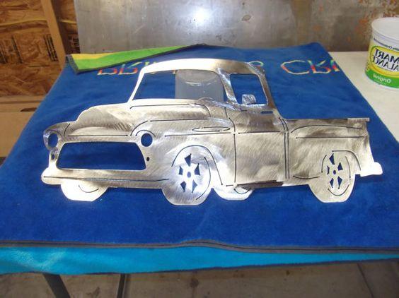 Camion Chevy coupé 1956 de plasma Metal par mancavemetalworks