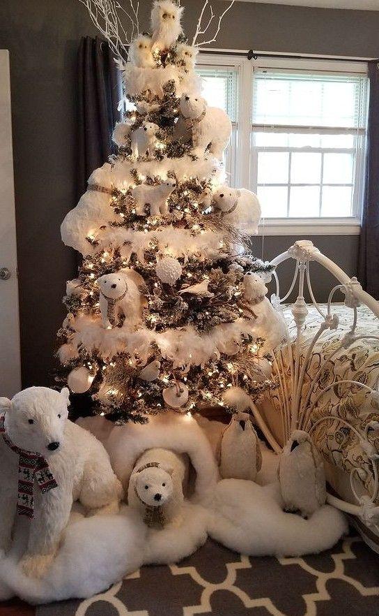 40 Best Christmas Tree Decor Ideas Inspirations For 2019 Sooshell Cool Christmas Trees White Christmas Decor Elegant Christmas Trees