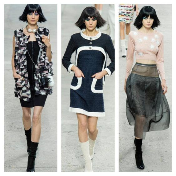 I'd much rather wear any of these #Chanel clothes (much more chic and classic, don't you think?) #pfw