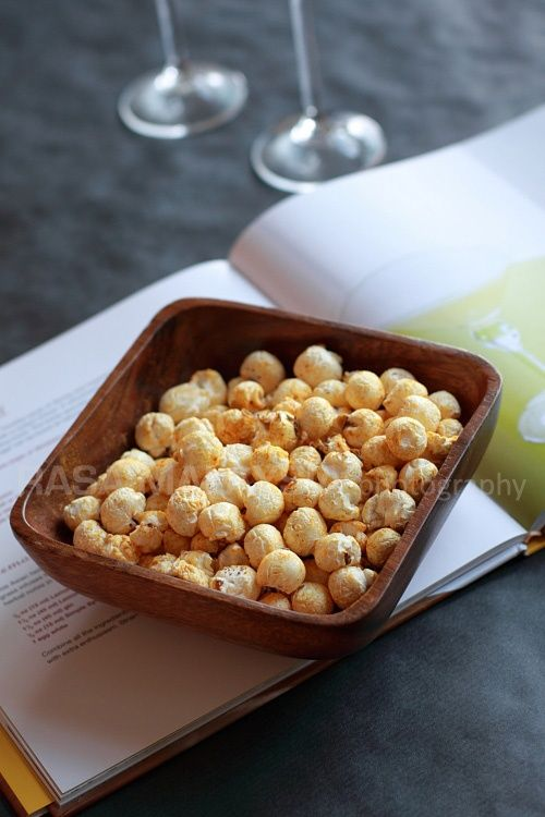 Curry Popcorn (My Recipe on Asian Cocktails Cookbook) | Food ...