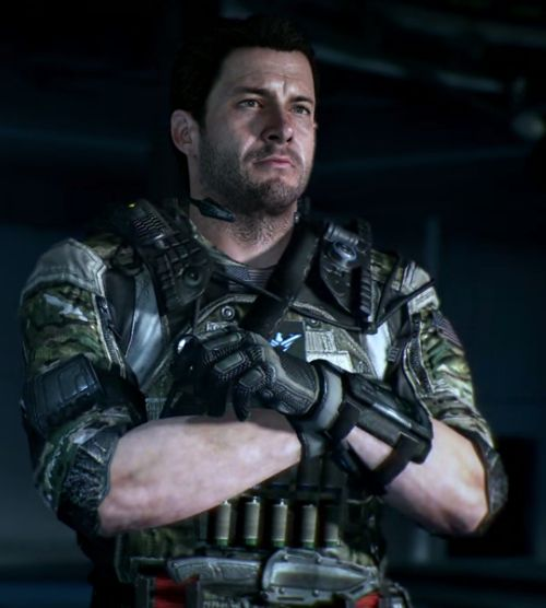 Sam Worthington as Alex Mason in Call of Duty: Black Ops 2