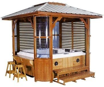 Hot Tub Enclosure Hot Tub Enclosures Pinterest Hot