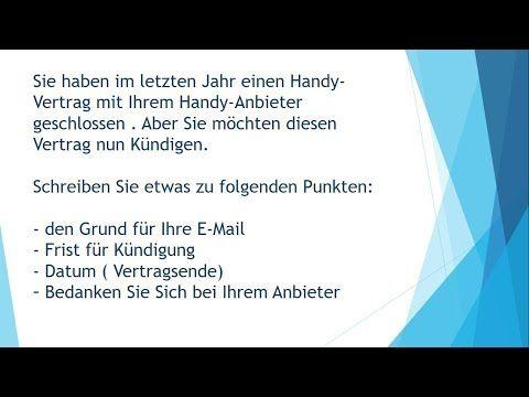 Handyvertrag Kundigen Brief Schreiben Zur Prufung B1 Youtube In 2020 Handyvertrag Kundigen Handyvertrag Vorlagen Word
