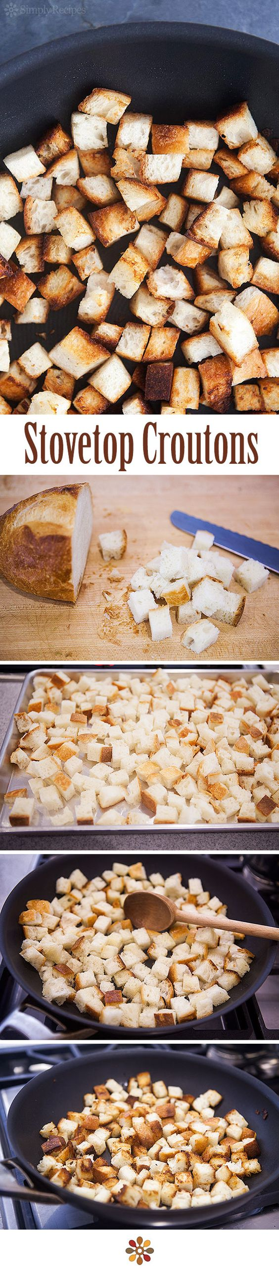 How to Make Croutons ~ Make your own homemade croutons, on the ...