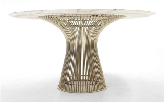 Marble Dining Table And Six Chairs By Warren Platner For Knoll In Good Condition For Sale In Kansas City Knoll Dining Tables Platner Dining Table Marble Dining