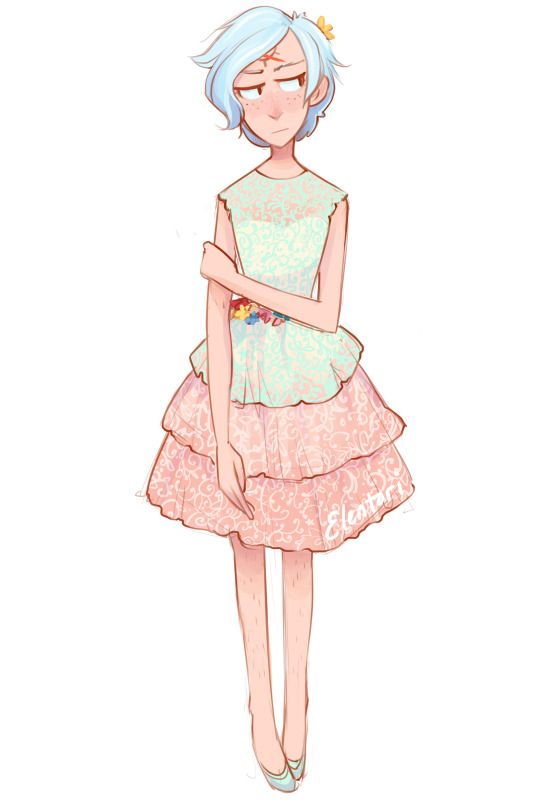 Reverse Bill; Will Cipher wearing a dress... xD most likely the cutest thing I ever seen all this week...