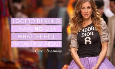 We Answered 11 Of Carrie Bradshaw's Most Ridiculous Questions | Opsh