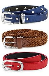 Oleva Set Of 3 Leather Belts A belt is a necessity and this time Oleva has come up with three belts of different colours that you can flaunt. Made with faux leather these should be worn with denims and a crop top so that everyone can see your stylish new belt. Click on the buy button today to get a quick delivery at your doorstep. This is a very stylish combo that you should buy immediately. From today no one can beat you when it comes to fashion and style that gives you another reason to…