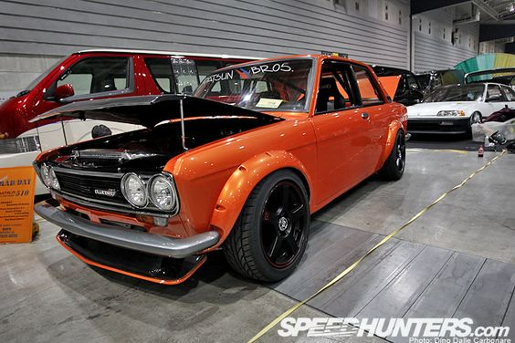 Datsun 510 was sporting a pretty mean stance with riveted ...