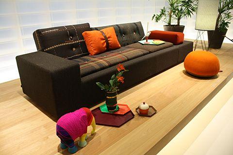 Polder Sofa by Hella Jongerius with Maharam fabrics