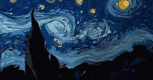 Esse artista recriou Noite Estrelada de Van Gogh com tinta na água http://ift.tt/28LzIQs