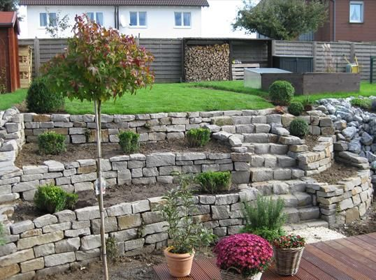 Lesergarten   Terrasse Garten and Gardens - mauersteine antik diephaus