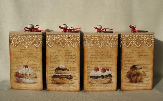 "Декупаж - Сайт любителей декупажа - DCPG.RU | Шоколад и сладости №42: Набор ""La patisserie"" Click on photo to see more! Нажмите на фото чтобы увидеть больше! decoupage art craft handmade home decor DIY do it yourself chocolate sweets cupcakes cakes box prints acrylic paints stencil varnish:"
