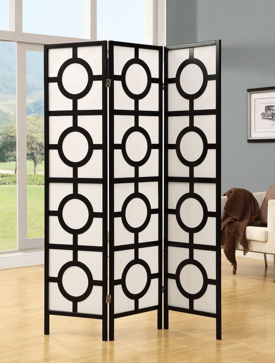Monarch Specialties Inc. Frame 3 Panel Folding Screen | Wayfair: