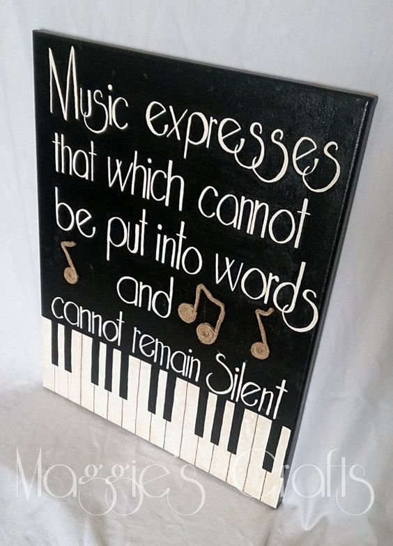 Music Inspired Wall Decor : Music notes and piano on