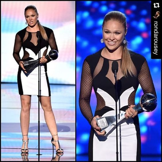elegant Ronda Rousey at ESPY Awards : if you love #MMA, you'll love the #UFC & #MixedMartialArts inspired fashion at CageCult: http://cagecult.com/mma