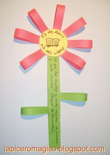 LAPICERO MÁGICO: Día del Libro: Flor con mensaje