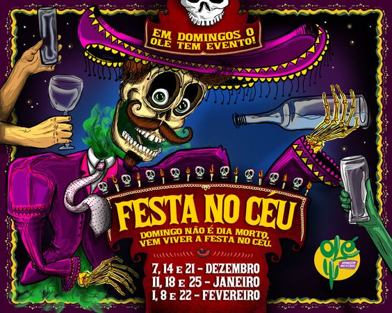 Material desenvolvido para eventos aos domingos no Olé Armazém Mexicano! #mexico #art #illustration