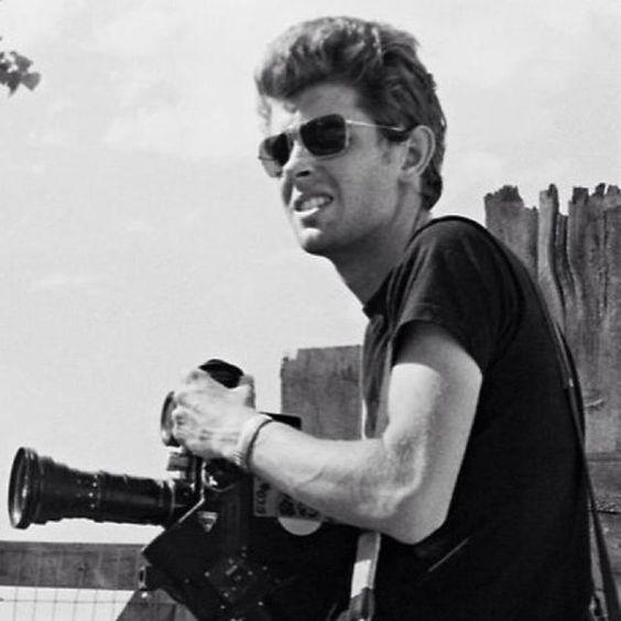 George Lucas in 1968, shooting his documentary...