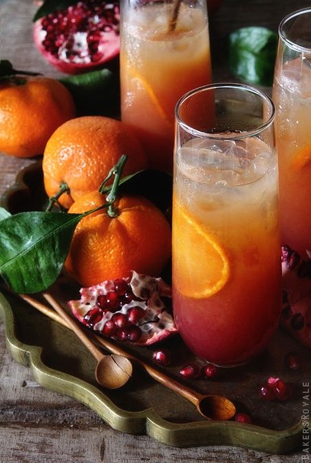 Satsuma and Pomegranate Campari
