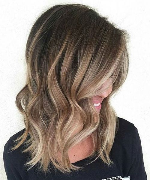 Most Beautiful Balayage on Dark Hair for Medium Hair 2016
