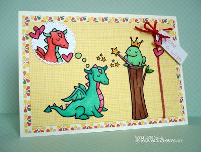 Fun Fairy Tale scene! Lawn Fawn - Critters Ever After, Critters in the Forest, A Birdie Told Me, Pink Lemonade paper _ Get inspired and be creative.: *** Make a wish ***