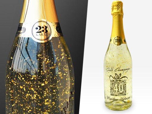 Szampan Ze Zlotem Prezent Urodziny 18 30 40 50 60 6763258623 Oficjalne Archiwum Allegro Bottles Decoration Champagne Bottle Hen Party