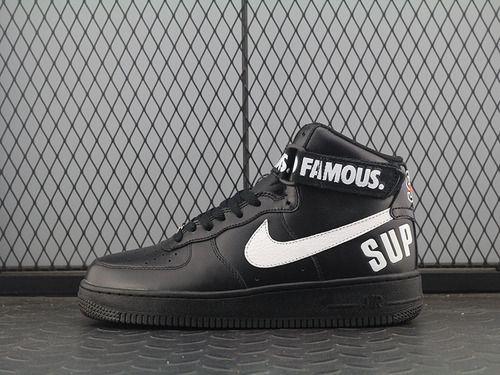 Supreme X Nike Air Force Af 1 High Black And White Air Force 94 Sup High Top Black And White 698696 010 Shoes For Men Sneakers Nike Nike Air Force Sneaker Nike
