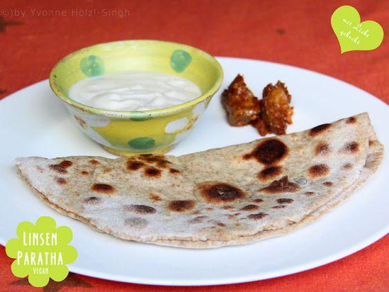 Wonni veganisierte zur Feier des Tages indische Linsen-Parathas. *