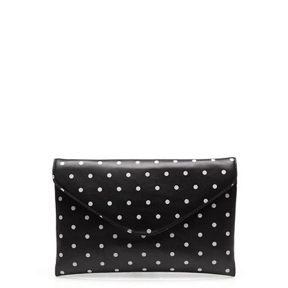 Cute!  Invitation clutch in dot