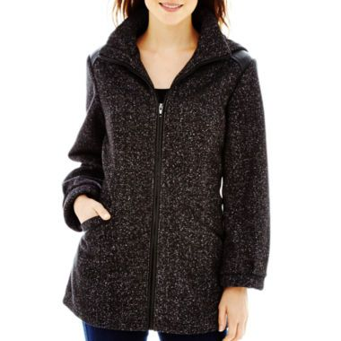 Details Hooded Zip-Front Fleece Jacket found at @JCPenney   Baby