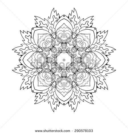 Mandala. Round Ornament Pattern, vector