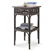 chippendale side table - black and white?  15 sq - 27 tall  $349