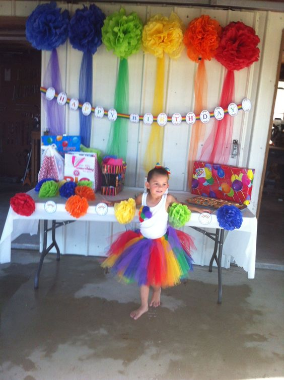 5th birthday party! rainbows :)