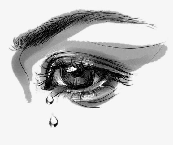Hand Painted Weeping Eyes Eyes Clipart Eye Tear Png Transparent