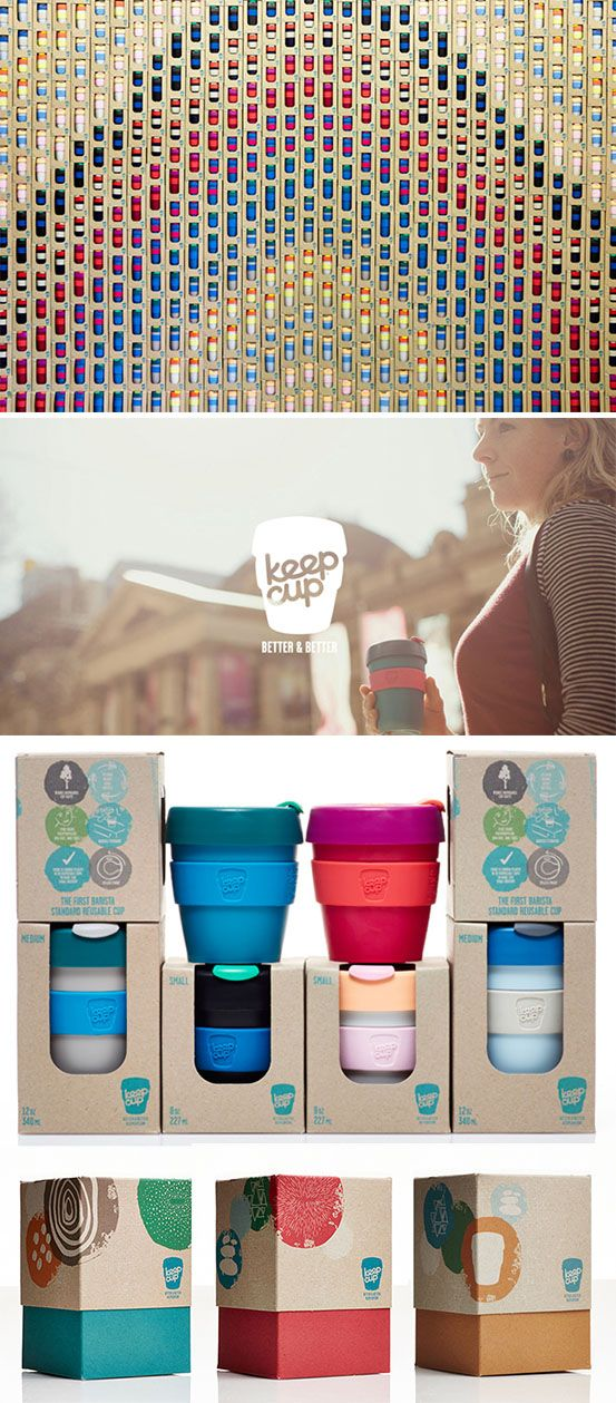 KeepCup branding by SouthSouthwest. Every minute, 1 million disposable cups are relegated to landfill.