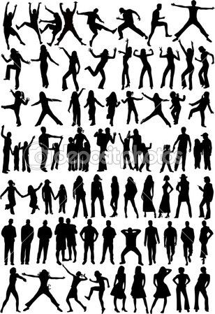dep_2067015-Silhouette-of---Collection.jpg (308×449)