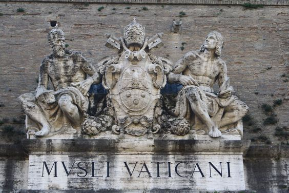 Vatican Museums, the sculpture over the entrance.