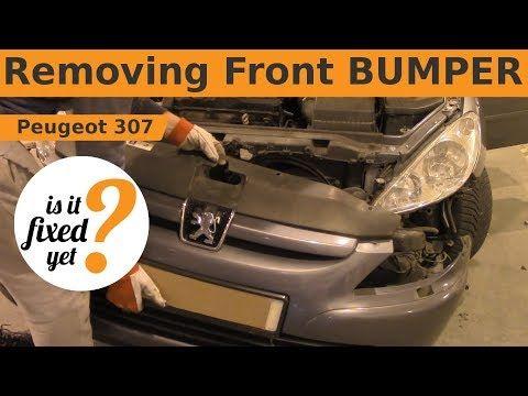 Removing Reinstalling Front Bumper Peugeot 307 Youtube Peugeot Bumpers Car Mechanic