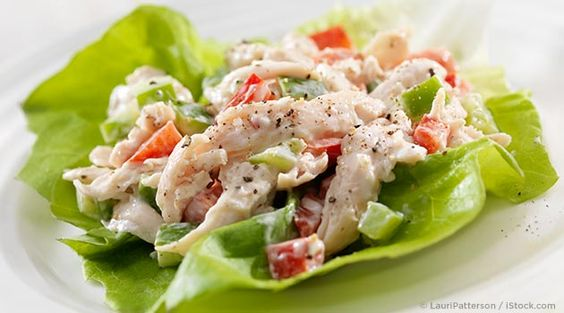 If you're looking for a filling and healthy lunch or dinner, try this herbed chicken salad recipe. http://recipes.mercola.com/herbed-chicken-salad-recipe.aspx