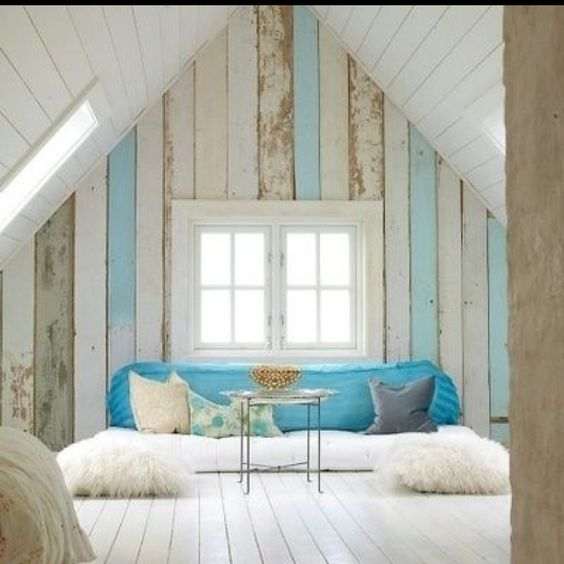 Amazing Attic Conversion Blue Country Style Beach House Walls Beach Largest Home Design Picture Inspirations Pitcheantrous
