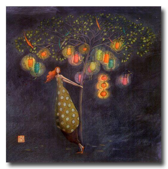 BOISSONNARD L arbre aux lampions