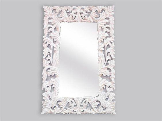 Specchio barocco bianco decape stile #shabbychic 150x100 cm. Mirror ...