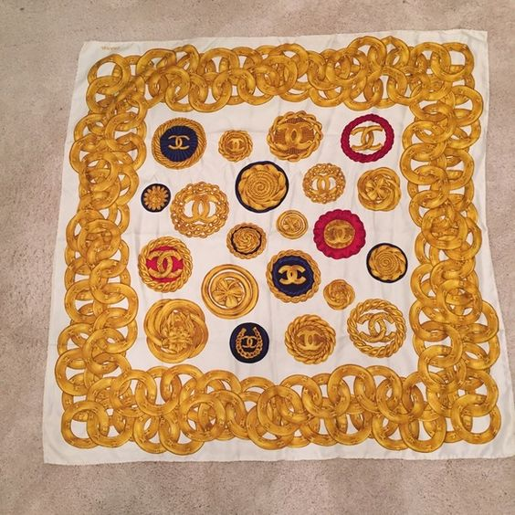 Gorgeous authentic vintage Chanel scarf. Gorgeous and in perfect shape. $130 on Ⓜ️ CHANEL Accessories Scarves & Wraps